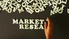 Market research Stock Footage