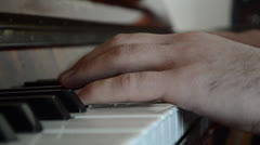 Piano Hands Stock Footage