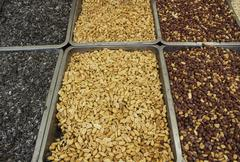 Seeds, pumpkin, peanut Stock Photos