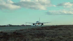 Stock Video Footage of Big powerful and reliable passenger plane of civil aviation