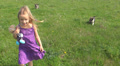Child Walking and Playing with Dogs, Children Love Puppies, Pets HD Footage