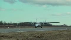 Stock Video Footage of Powerful beautiful and reliable passenger plane of civil aviation