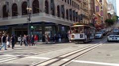 Cable Car at San Francisco. California, USA. Stock Footage