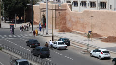 Street in Rabat, Morocco - stock footage