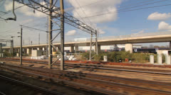 Eurostar in UK near Ashford station. Stock Footage