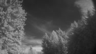 Stock Video Footage of Infrared-Clouds