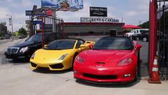 Beverly Hills car rental Stock Footage