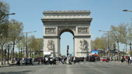 Stock Video Footage of people crossing the champs-elysees, paris