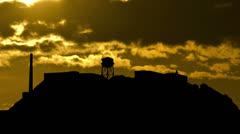 San Francisco Alcatraz sunset Stock Footage