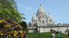 Sacre coeur, montmartre, paris, france Stock Footage