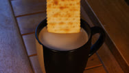 Stock Video Footage of cup of coffee and cracker