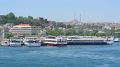 Passenger boats in Istanbul, Turkey (Editorial) Stock Footage