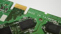 Circuit board made in taiwan Stock Footage