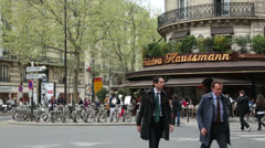 Triadou haussmann bar restaurant Stock Footage