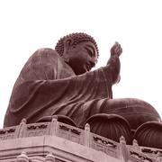 Big buddha in lantau hong kong Stock Photos