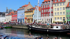 Visit to Copenhagen Stock Footage