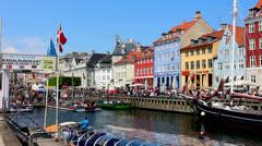 Nyhavn - Copenhagen - stock footage