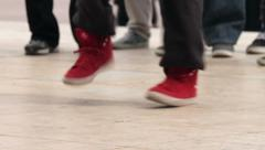Hip hop street dance foot moves Stock Footage