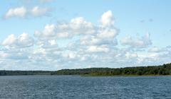 Landscape cumulous cloud on lake Stock Photos