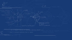 Quantum physics background blueprint - stock footage