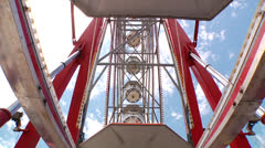 Ferris wheel ascending - stock footage