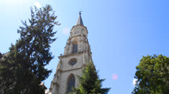 Saint michael cathedral cluj Stock Footage