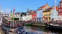 People in Nyhavn Stock Footage