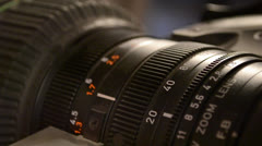 zoom lens focal lenght and focus tighter - stock footage