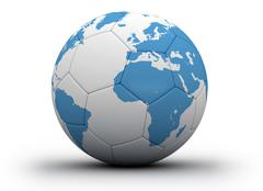 Soccer ball global sport Stock Illustration