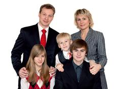 merry big family portrait - stock photo