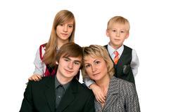 household portrait - stock photo
