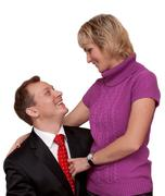 household pair, husband and wife - stock photo