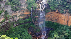 Waterfall in the Blue Mountains national park, Australia Stock Footage