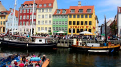 Canals in Copenhagen Stock Footage