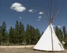 Tipi in American west scenery Stock Footage