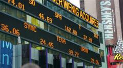 Times Square News Screen Manhattan, New York Stock Footage