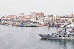 Military cruiser Stock Photos
