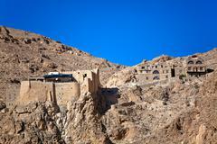 Syria - Deir Mar Musa al-Habashi Nebek - stock photo