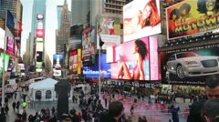 Times Square Manhattan, New York Stock Footage