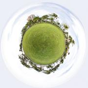 Miniature planet Miami Beach Stock Photos