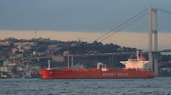 Oil tanker ship Stock Footage