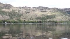 Village of Ardlui and Loch Lomond Scotland Stock Footage