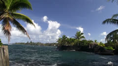 Puna District, ocean cove - stock footage