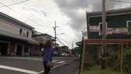 Pahoa, Hawaii big island, woman walking Stock Footage