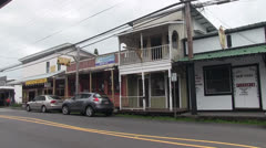 Pahoa, Hawaii big island , old town Stock Footage