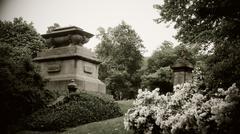 Cemetery Sepia Stock Photos