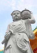 Chinese stone statue in phuket Stock Photos