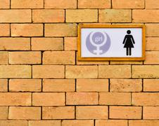 Restroom sign Stock Photos