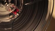 Stock Video Footage of spinning wheel on Bolex super 8 projector 2