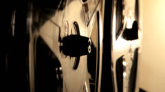 spinning wheels on Bolex super 8 projector 5 - stock footage